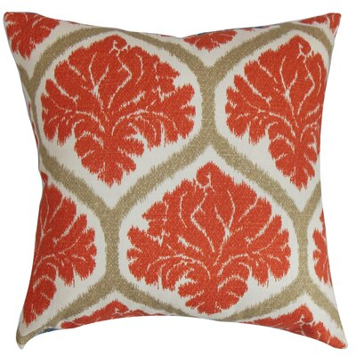 Carolos Floral Floor Pillow Color: Russett