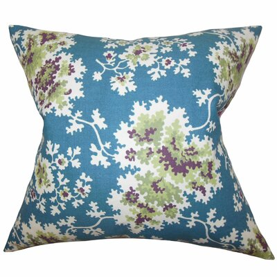 Elmsford Dortch Floral Floor Pillow Color: Blue