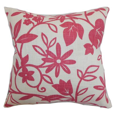 Mindy Floral Floor Pillow Color: Rose