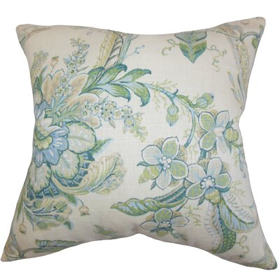 Penton Floral Floor Pillow Color: Blue