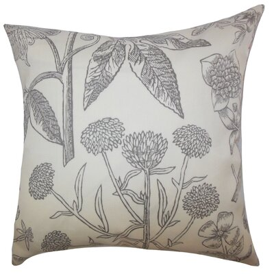 Minerva Floral Floor Pillow Color: Gray