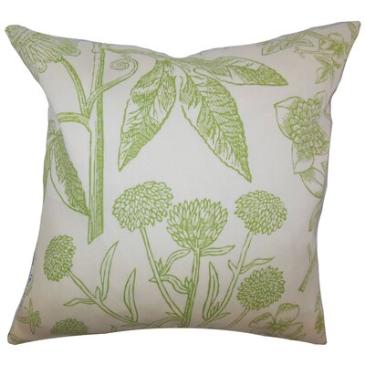 Minerva Floral Floor Pillow Color: Green
