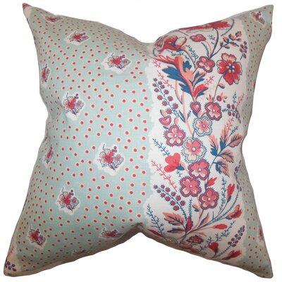 Minnie Floral Floor Pillow Color: Sea Green