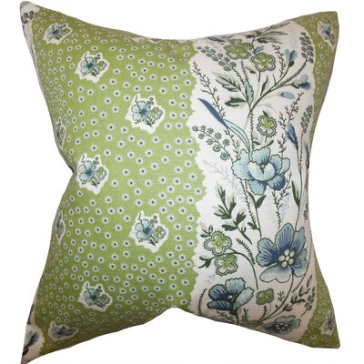 Minnie Floral Floor Pillow Color: Cactus Green
