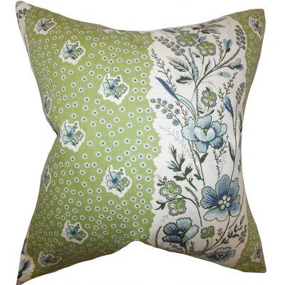 Minnie Floral Floor Pillow Color: Cactus Green