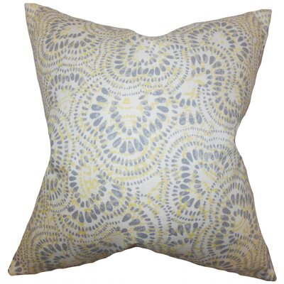 Dian Floral Floor Pillow Color: Jonquil