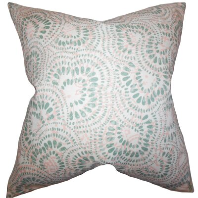 Dian Floral Floor Pillow Color: Pink/Green