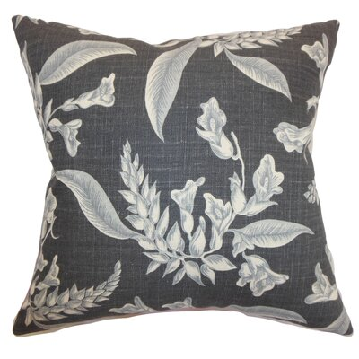 Perin Floral Floor Pillow Color: Gray