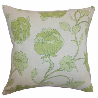 Broadbent Floral Floor Pillow Color: Spring Green