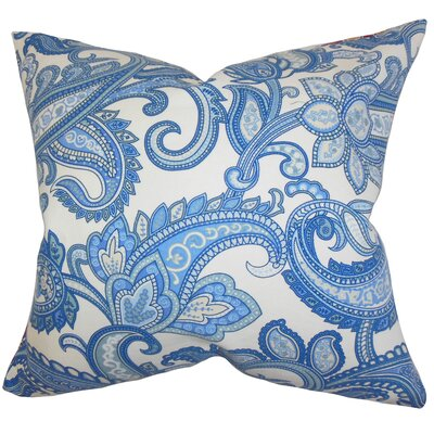 Broadlands Floral Floor Pillow Color: Blue