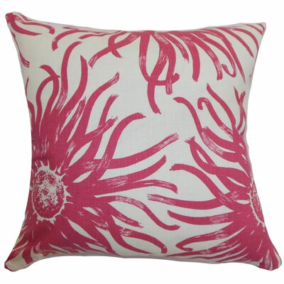 Melanie Floral Floor Pillow Color: Rosewood