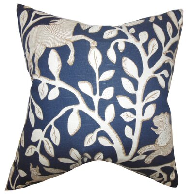 Benat Foliage Cotton Throw Pillow