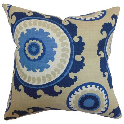 Hosking Geometric Floor Pillow Color: Blue/Stone