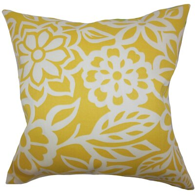 Houchins Floral Floor Pillow Color: Yellow