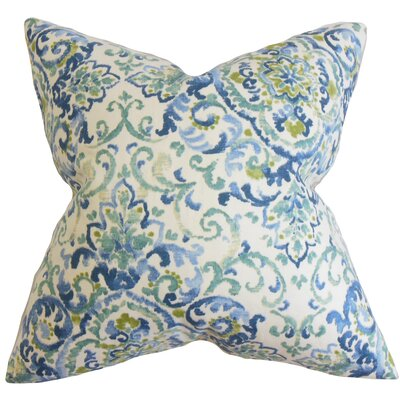 Avery Floral Floor Pillow Color: Blue/Green