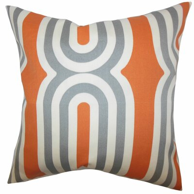 Sammy Geometric Floor Pillow Color: Orange
