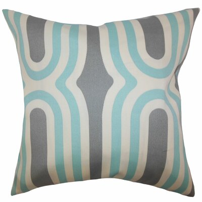 Sammy Geometric Floor Pillow Color: Aquamarine