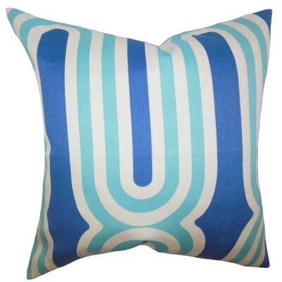 Sammy Geometric Floor Pillow Color: Blue