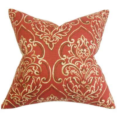 Chancellor Floral Floor Pillow Color: Red