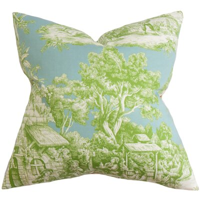 Wellhead Toile Floor Pillow Color: Green