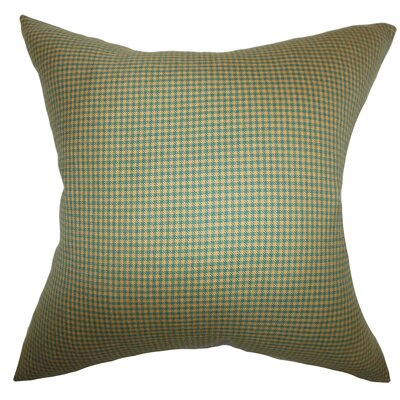 Ronda Plaid Floor Pillow Color: Green/Brown