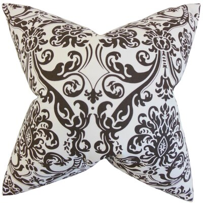 Mankin Damask Floor Pillow Color: White