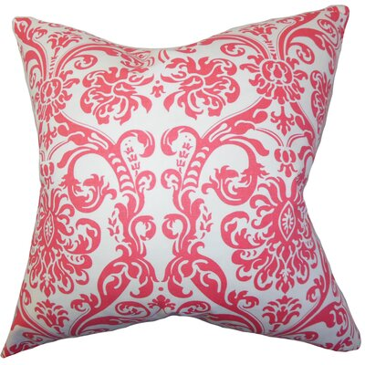 Mankin Damask Floor Pillow Color: Pink