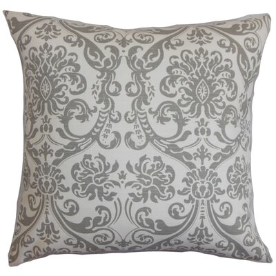 Mankin Damask Floor Pillow Color: Gray