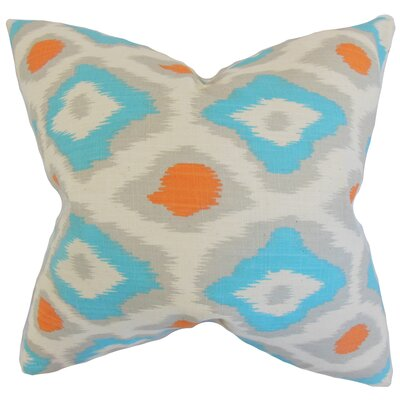 Camillei Ikat Floor Pillow Color: Dossett