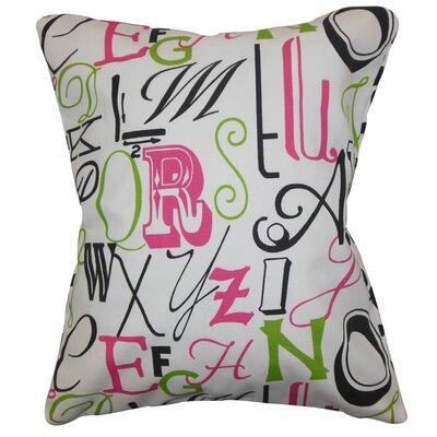Buda Typography Floor Pillow Color: Chartreuse