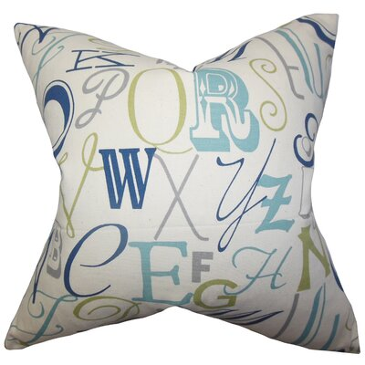 Buda Typography Floor Pillow Color: Blue