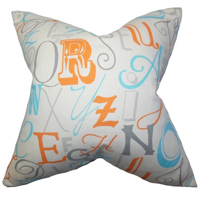 Buda Typography Floor Pillow Color: Orange