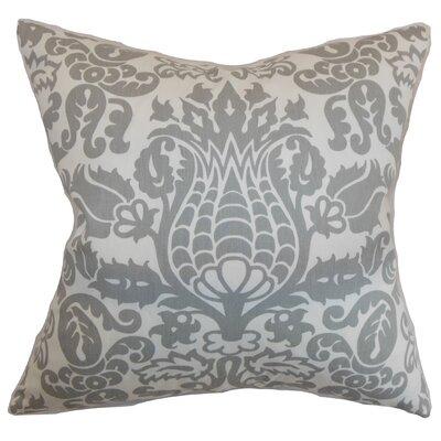 Fredricks Floral Floor Pillow Color: Storm