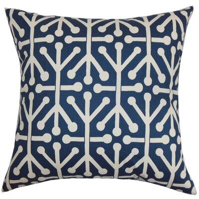 Dowdle Geometric Floor Pillow Color: Blue/Natural