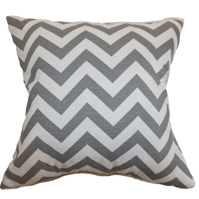 Burd Zigzag Floor Pillow Color: Ash/White