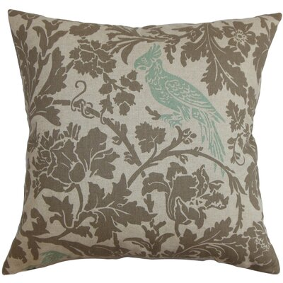 Mandell Floral Floor Pillow Color: Blue/Linen