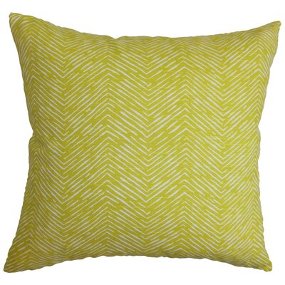 Broadmere Zigzag Floor Pillow Color: Green
