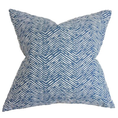 Broadmere Zigzag Floor Pillow Color: Blue