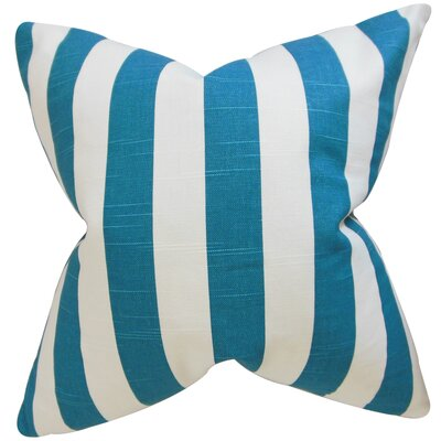 Ardon Stripes Floor Pillow Color: Turquoise