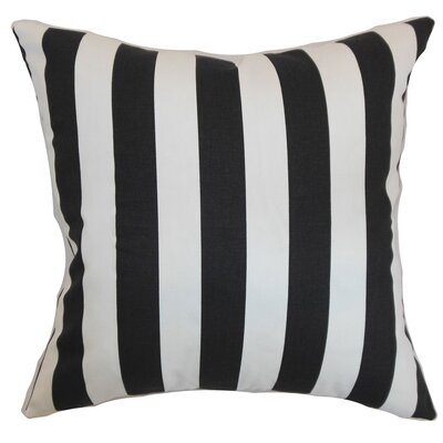 Ardon Stripes Floor Pillow Color: Black/Natural