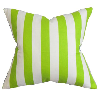 Ardon Stripes Floor Pillow Color: Chartreuse White