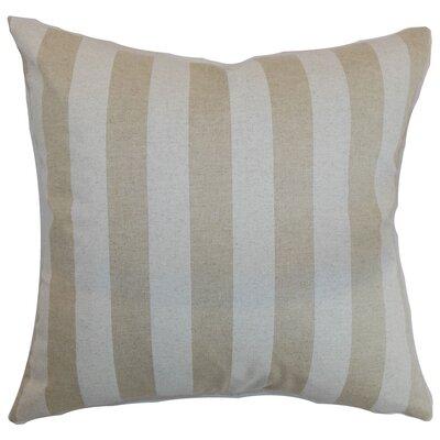Ardon Stripes Floor Pillow Color: Cloud Linen