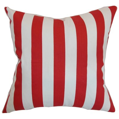 Ardon Stripes Floor Pillow Color: Lipstick