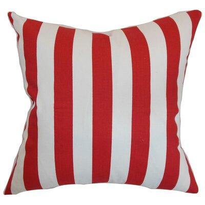 Ardon Stripes Floor Pillow Color: Lipstick