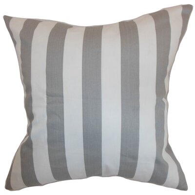 Ardon Stripes Floor Pillow Color: Storm Twill