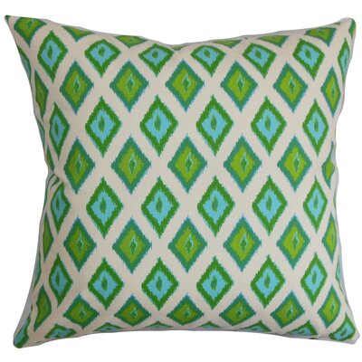 Brisbane Ikat Floor Pillow Color: Green