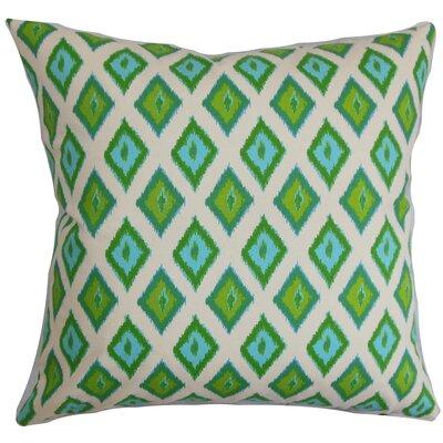 Brisbane Ikat Floor Pillow Color: Green