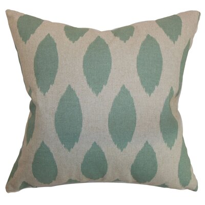 Caledonian Ikat Floor Pillow Color: Blue