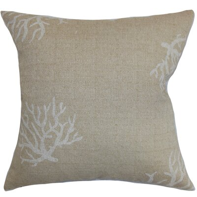 Lennox Coral Floor Pillow Color: Denton Cloud