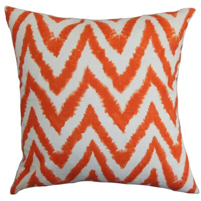 Edelstein Zigzag Floor Pillow Color: Orange